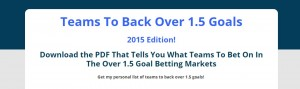 Over 1.5 Goals Betting System