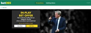Bet365 in-play link