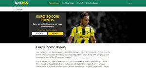 bet365 Euro Soccer Bonus