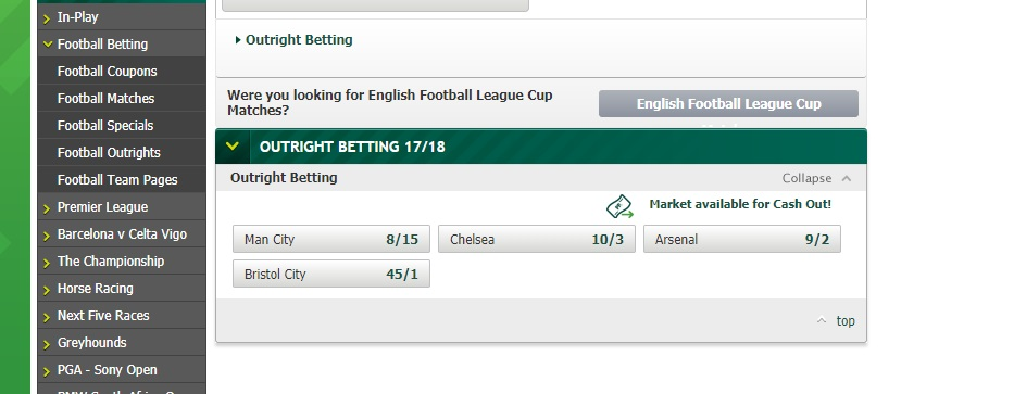 Paddy Power Carabao Cup Betting