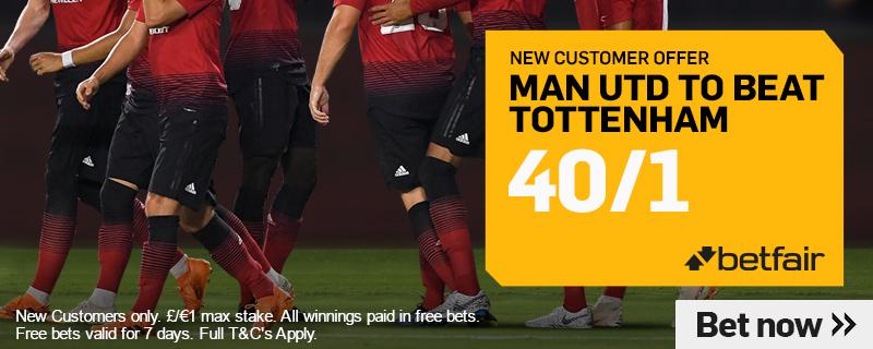 Man Utd V Spurs Betting
