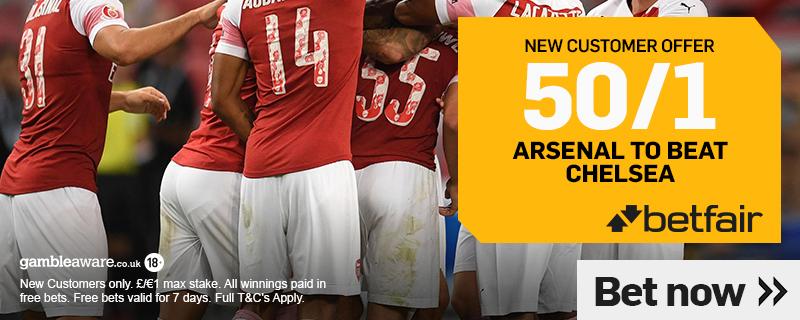 arsenal enhanced odds this weekend