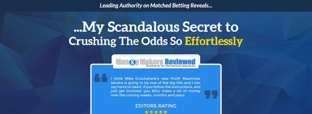 Profit Maximiser Review from Mike Cruickshank