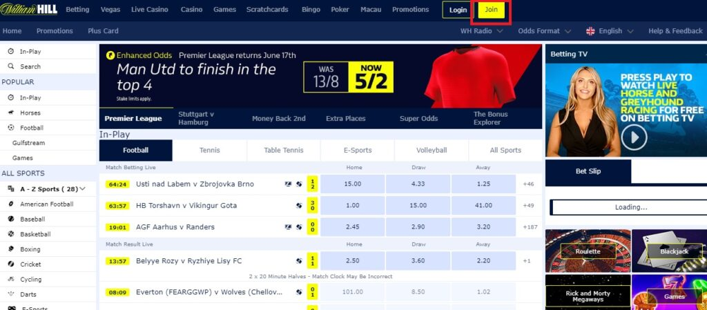 how to open a bookmaker account