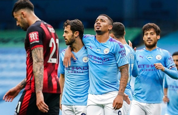 Bournemouth slide closer to the Championship after defeat at the Etihad