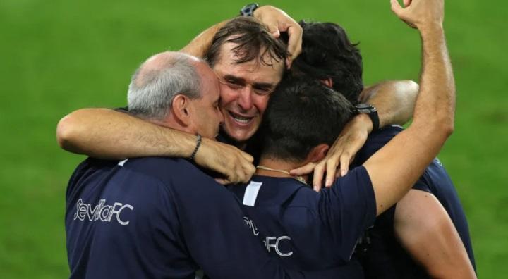 Sevilla 2020 Europa League champions manager Julen Lopetegui