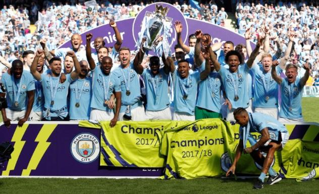 Man City win 2018 Premier League