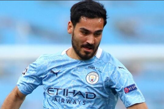 Ilky Gundogan scored twice as Man City beat West Brom 5-0