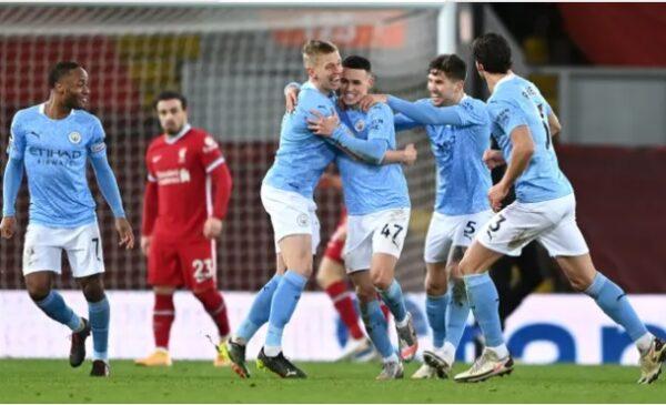 Man City beat Liverpool 4-1