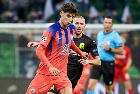 Kai Havertz in action for Chelsea